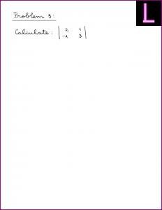 Calculate the determinant (2 x 2 matrix)
