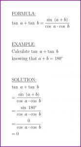 tan a + tan b (formula and example) (sum of tangent)